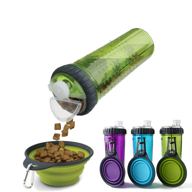 Silicone Travel Bowls Pet Dog Bottle Water Camping Plate Feeder Outdoor Collapsible Drink Foldable