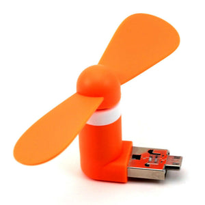 1Pc Orange Color USB Gadget for Android Phones Micro USB Fans Mini Fans for Samsung For Other Android Phones