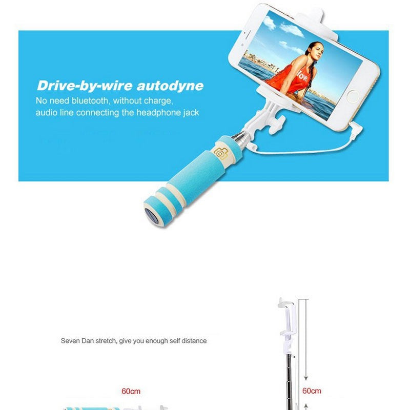 Portable Selfie Stick For Travel Outdoor Playing For Easy To Photograph Foldable Stick Monopod