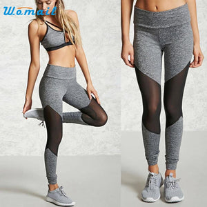 Women  Sports Gym Fitness Leggings High Waist Pants  Yoga Running Workout Clothes Activing 2017 #A25