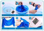 2017 New 9 Colors 90*30cm Ice Towel Utility Enduring Instant Cooling Towel Heat Relief Reusable Chill Cool Towel