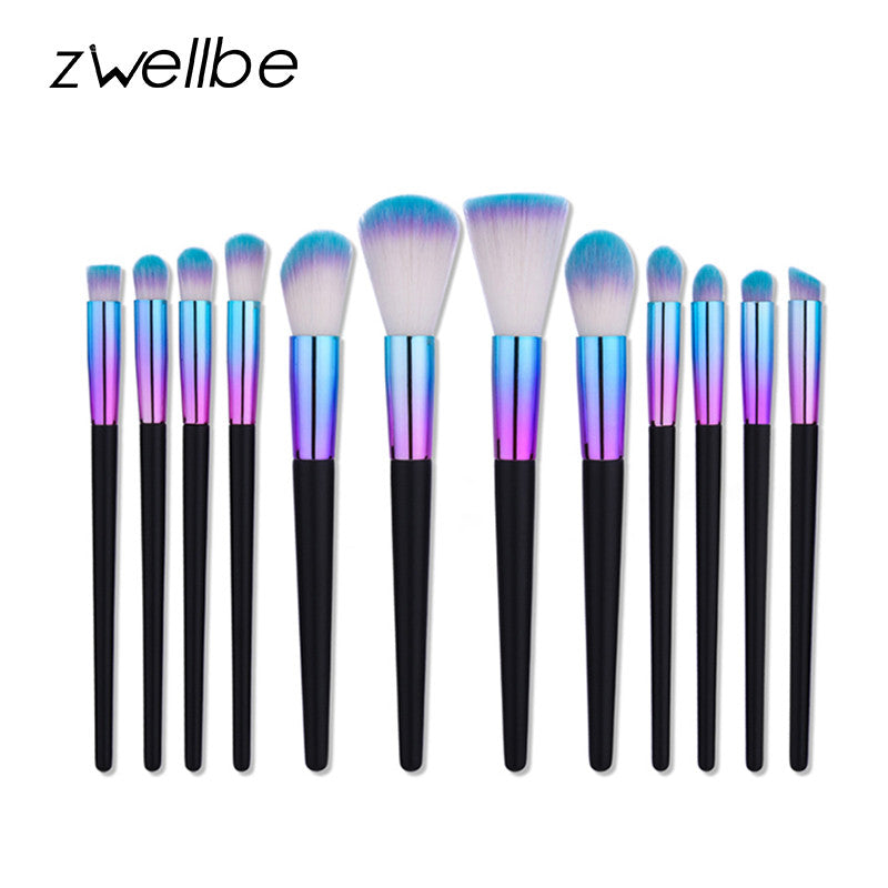 Rainbow Makeup Brushes - Professional Make Up Tools