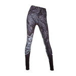 Women Sport Leggings Floral Print Running Pants Tights Fitness Yoga Pants High Waist Compression