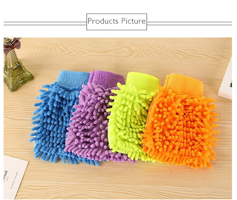 Chenille Gloves Clean Gloves Washing Towels Household Cleaning Helper Microfiber Cloth Cleaning