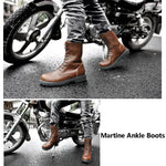 Genuine Leather - Martin Ankle Boots | Size 38-49