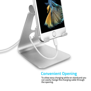 Rotatable Aluminum Phone Stand Universal Mobile Phone Holder Charging Stand For iPhone Samsung Sony