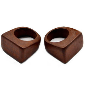 Rainbery Wood Wedding Rings Creative Nature Women And Man Handmade Wooden Ring jewellery Personality