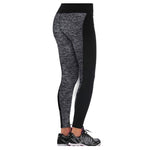 Newest Women Grey And Black Paneled Soft Plus Slimming Pants Leggings For Running/Yoga/Sport