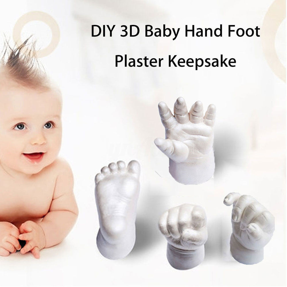 Novelty 3D Plaster Handprint Footprint Baby Mould Party Supplies Home DIY Gift Decoracion Hand Footprint Makers Baby Souvenirs