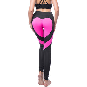 Women Patchwork Elastic Sport Leggings Yoga Pants Fitness Compression Sports Trousers Running Tights