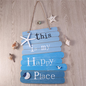 WINOMO Beach Style Wood Sign Bar Cafe Shop Store Door Decor Plaque Welcome Hanging Sign Board