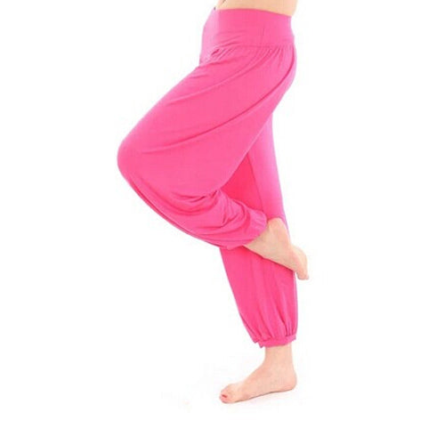High Waist Stretch Yoga Pants Flare Wide Leg Bloomers Size S-3XL 8 Colors