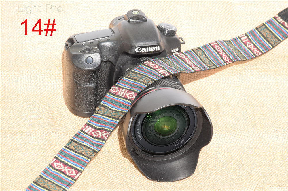 Ethnic Style Photo Camera Colorful Strap Cotton Yard Pattern Neck Strap DSLR Shoulder Hand Strap for Canon Nikon