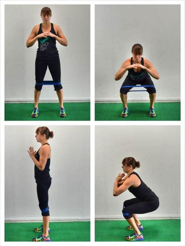 exercises with mini band - squat