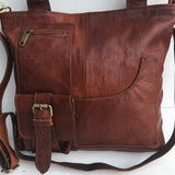 SANAA - Handcrafted Leather Shoulder Bag - Nomad House