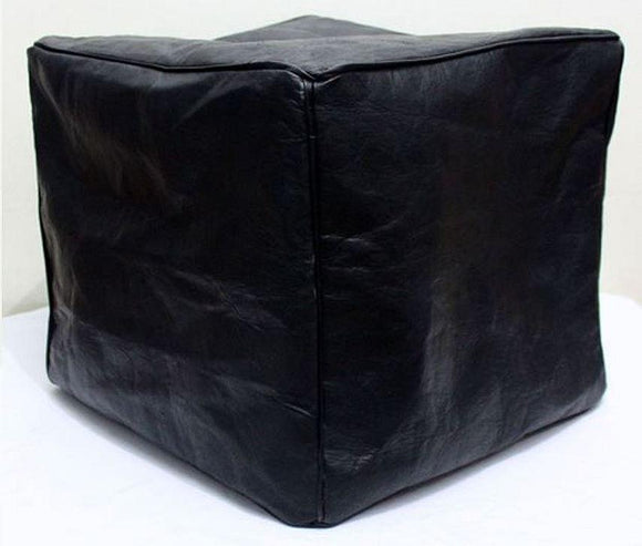 Square Ottoman - Black - Nomad House