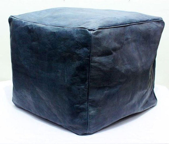 Square Ottoman - Blue Jeans - Nomad House