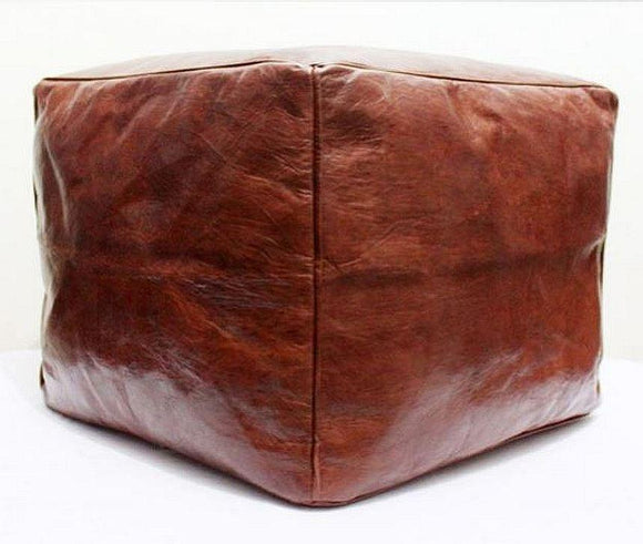 Square Ottoman - Brown - Nomad House