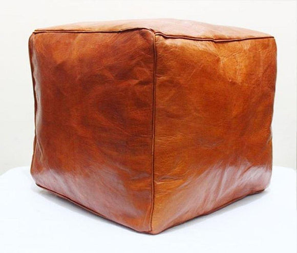 Square Ottoman - Chestnut - Nomad House