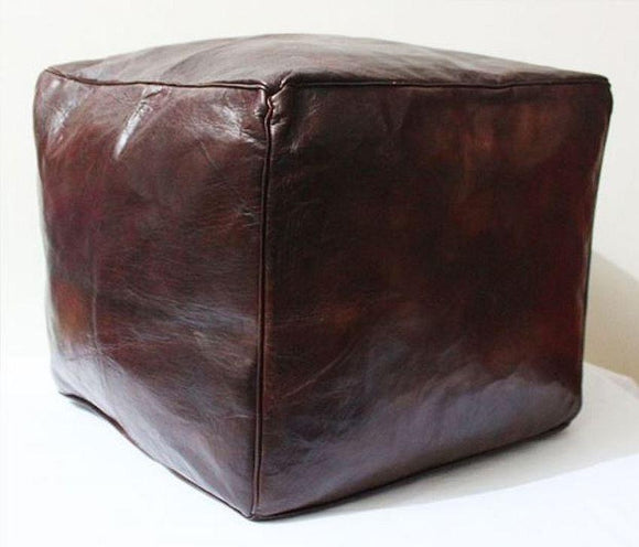 Square Ottoman - Vintage Brown - Nomad House