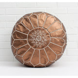 PREMIUM Moroccan Pouf Ottoman Footstool - VEGAN FRIENDLY - COPPER - Nomad House