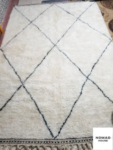 Moroccan Rug Beni Ourain Hand Knotted Pure Wool Berber Rug - Runner