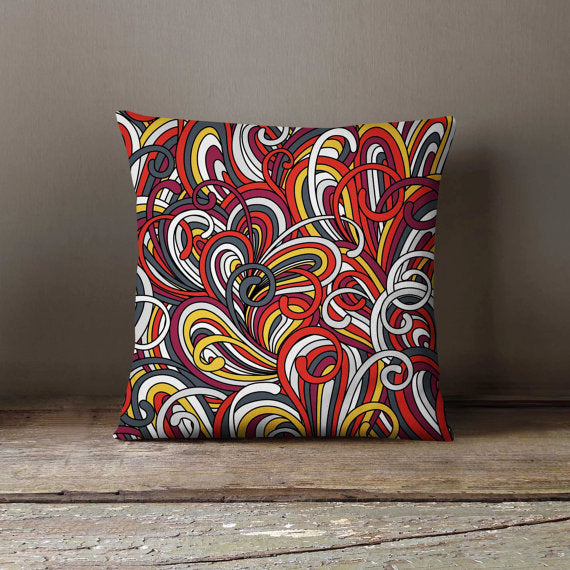 Colorful Ropes Pattern Art Pillowcase | Decorative - Asili Interiors