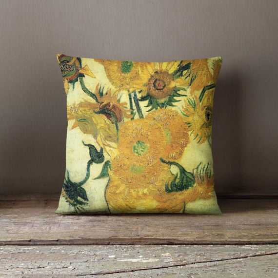 Van Gogh Sunflowers Decorative Throw Pillow Cover - Asili Interiors
