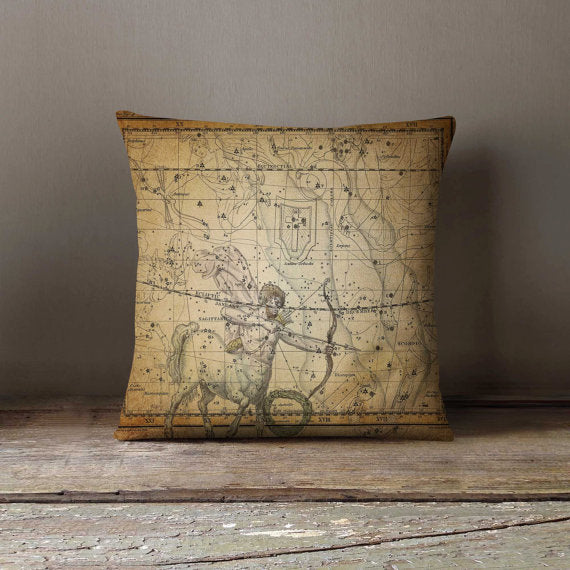 Antique Star Map Pillowcase Decorative Throw - Asili Interiors
