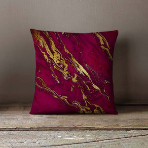 Pink Gold Marble Purple Pillowcase Decorative - Asili Interiors