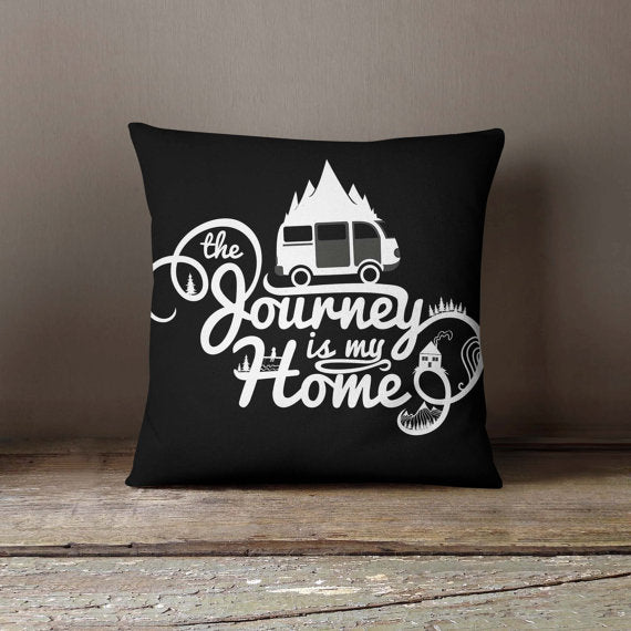 Journey is my Home White Pillowcase | Decorative - Asili Interiors