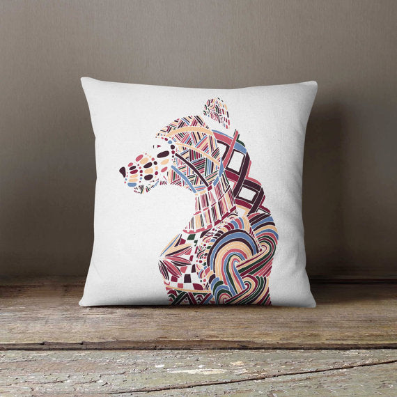 Bear Hand Drawn White Pillowcase | Decorative - Asili Interiors