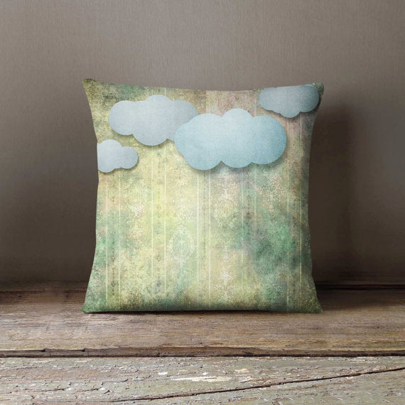 Paper Clouds Shabby Pillowcase Decorative Throw - Asili Interiors