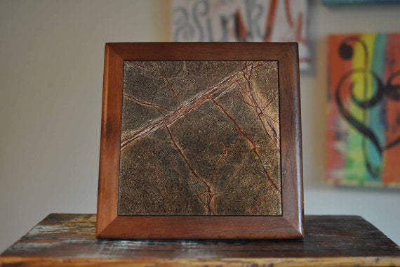 Green Marble Granite Ceramic Tile Coaster Set - Asili Interiors