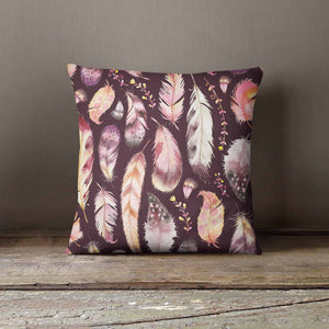 Feathers Pattern Pillowcase | Decorative Throw - Asili Interiors