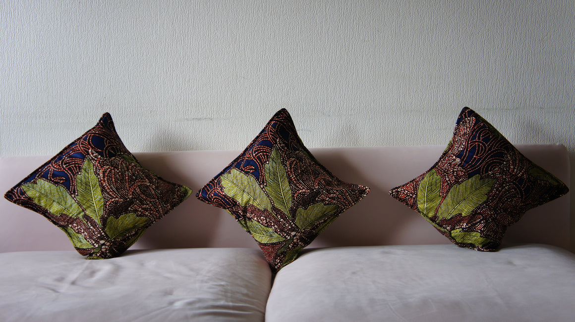 Copy of African Ankara/Set of three/ Throw Pillow/Cushion Covers - Asili Interiors