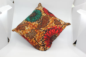African Ankara/Set of three/ Throw Pillow/Cushion Covers - Asili Interiors
