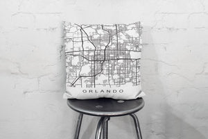 Orlando City Map Print Orlando Map Orlando Pillow - Asili Interiors