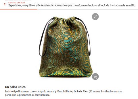 Laia Alen bolso invitada Hola Fashion