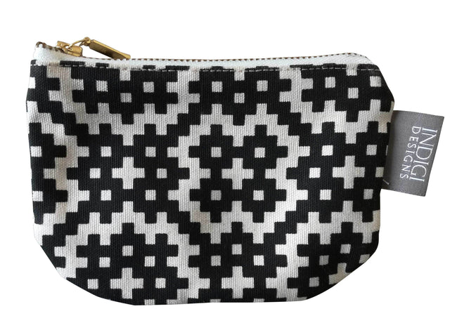 Bemba Blocks Black Pouch Small