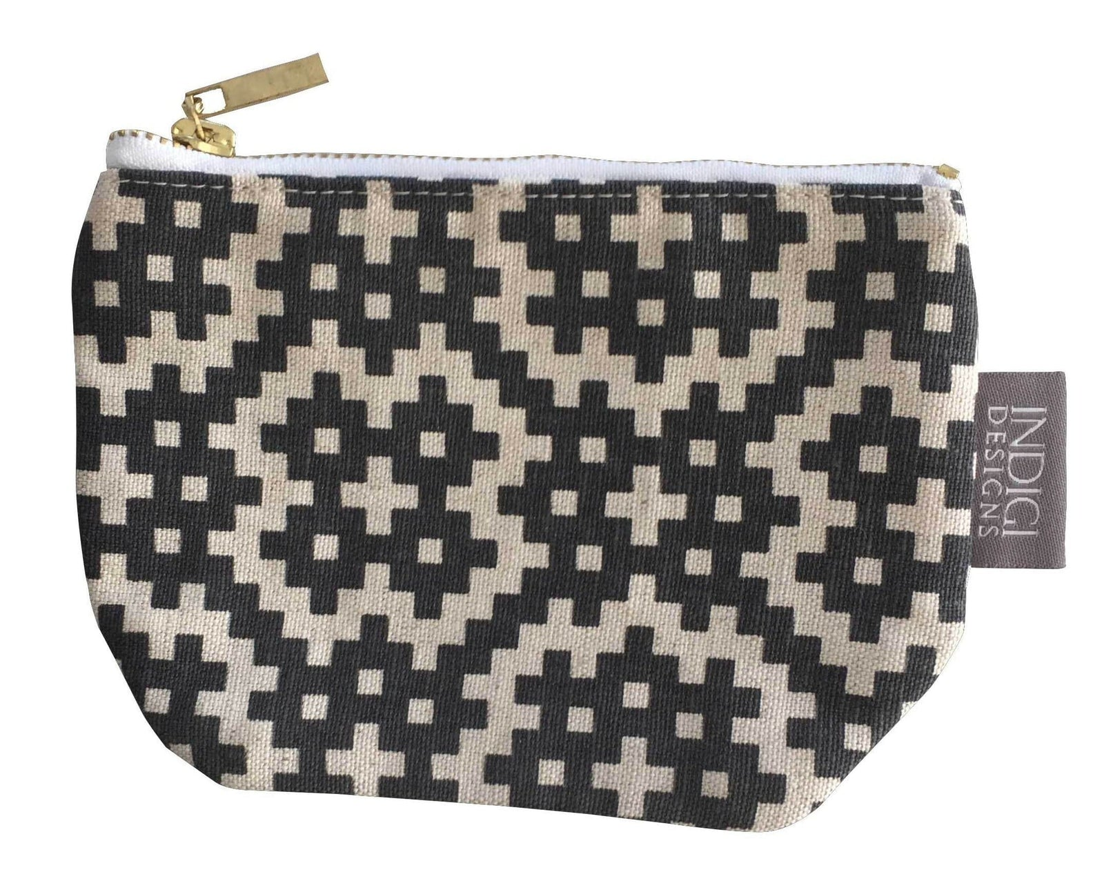 Bemba Blocks Charcoal Pouch Small