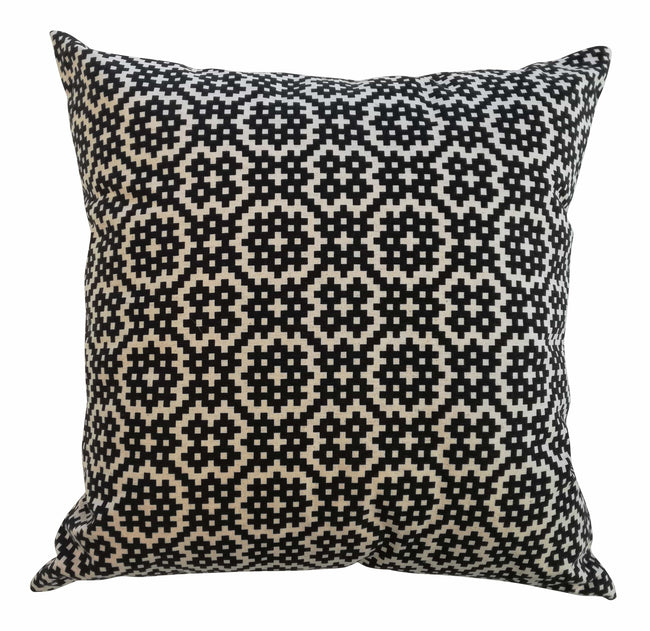 Bemba Blocks Black Cushion Cover