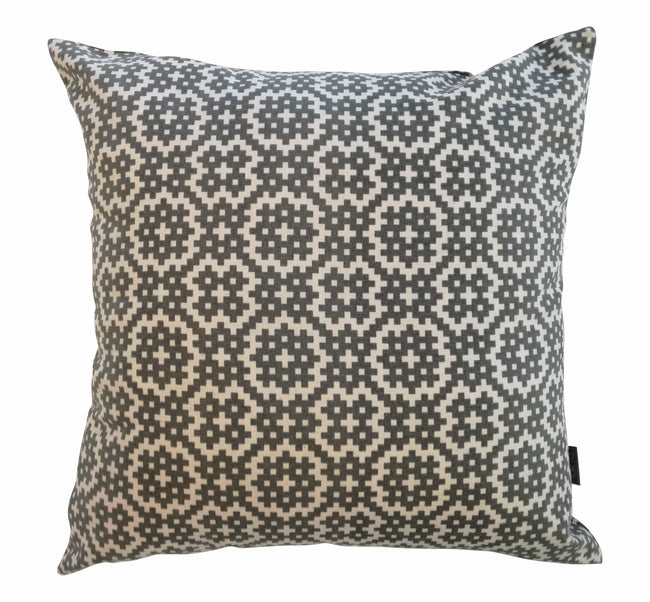 Bemba Blocks Charcoal Cushion Cover