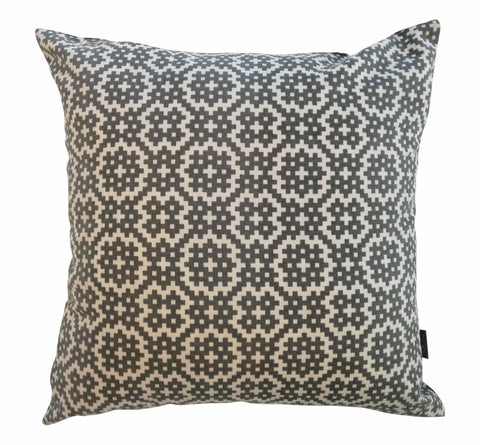 Solitaire Gold on Grey Foiled Cushion Cover