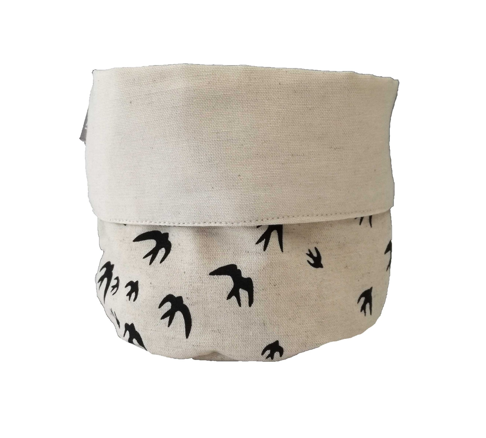 Birds Black Soft Bucket