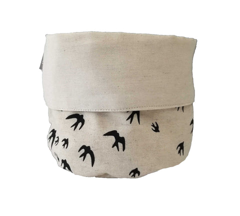 Henna Leaves Indigo Soft Bucket Small