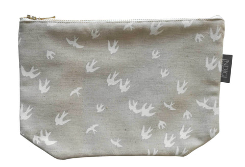 Birds Black Pouch Large