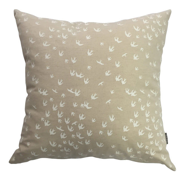 Birds White Cushion Cover