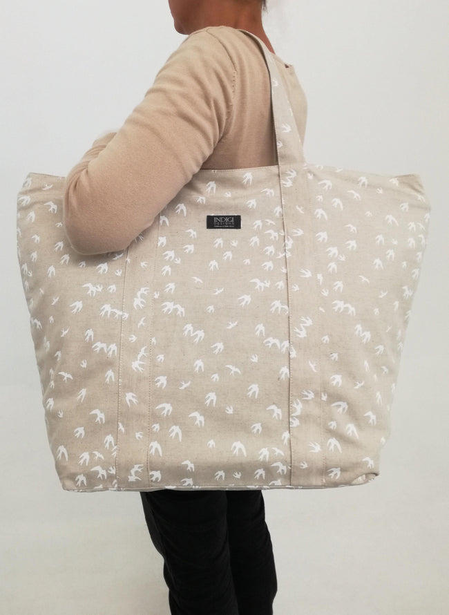 Leisure Bag Birds White