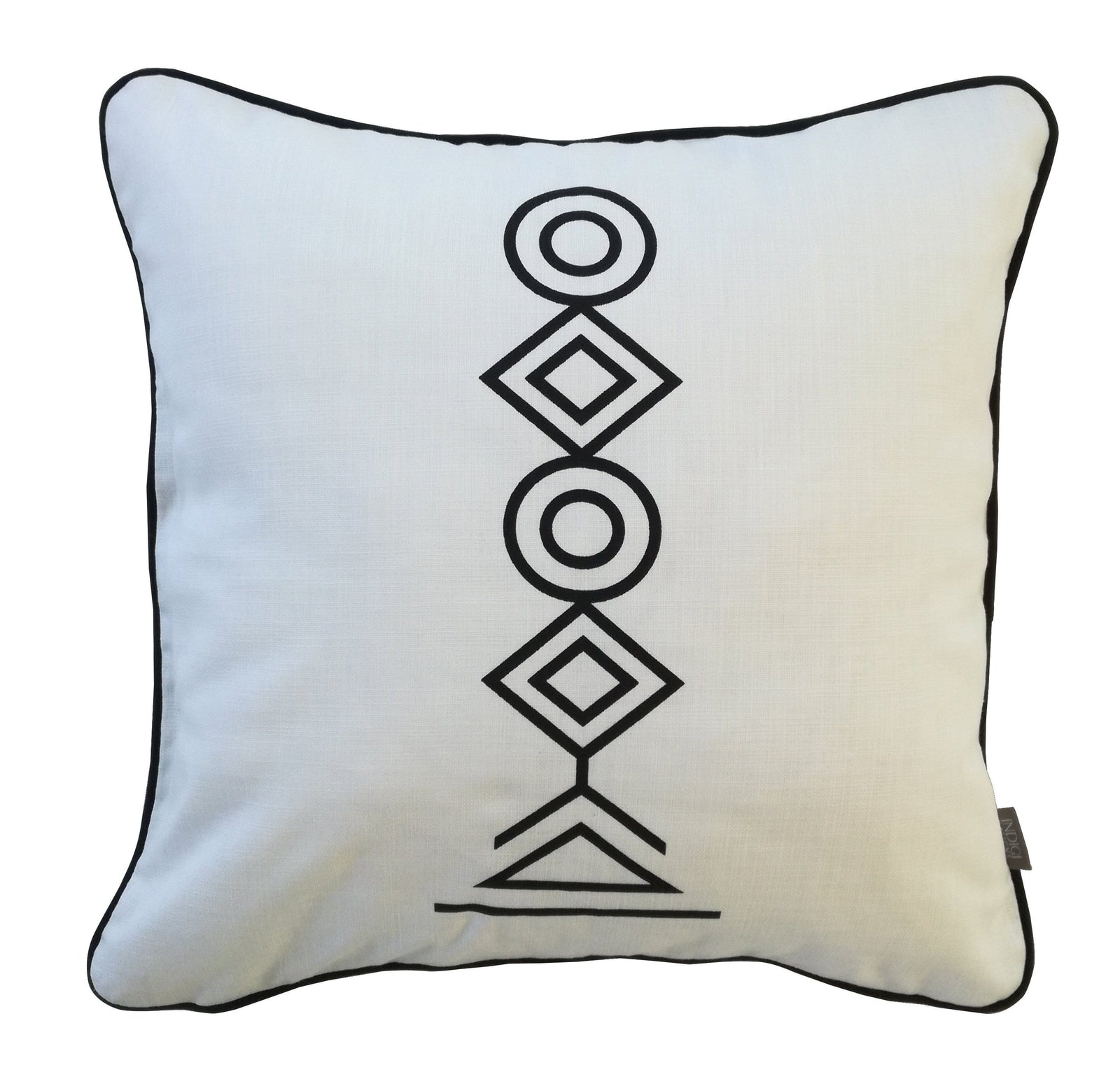 Totem Black on White Cushion Cover
